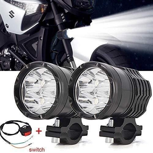 40W Motorrad Scheinwerfer, Motorrad LED Zusatzscheinwerfer vorne Scheinwerfer 12V 24V Motorrad Nebel-treibendes Licht for Motorroller Trikes und Quads-LKW-Boot