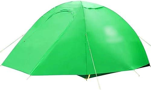 YaNanHome Tente Tente extérieure Double épaisseur Tente Anti-Pluie 1-2 Personnes Camping Tente Couple Tente Tente de randonnée (Couleur   vert, Taille   210  140  110cm)