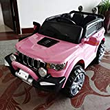 Coche eléctrico para niños Jeep 2 plazas 4WD 12 V con mando a distancia USB MP3 (rosa)