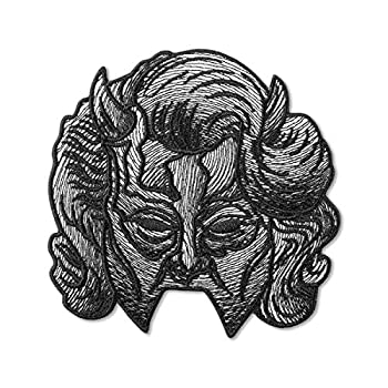 Ghost Band Nameless Ghoul Shadow Woman s Mask Embroidered Patch – Pack of 1 Heavy Metal Embroidery Emblem – Iron On and Sew On Applique Patch for Bikers – 3.8 x 3.7 inches
