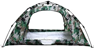 1-2 Person Outdoor Automatic Protection Tent, Pop Up Camouflage Camping Tent Waterproof Backpacking Tent for Travelling Be...