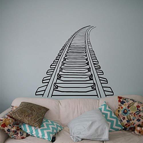 Vcnhln Calcomanía de Pared de ferrocarril, Pegatina de Vinilo para Tren, Uso de Pintor, Mural de Pared Interior, Adhesivo para artículos para el hogar, póster 62x57cm