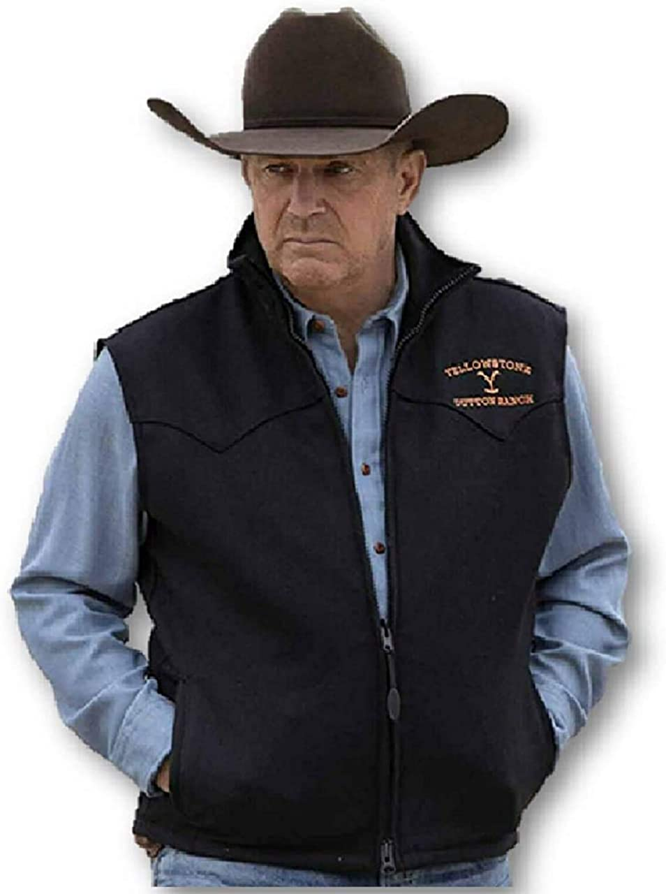 Mens Yellowstone Kevin Costner John Dutton Cotton Bomber Jacket
