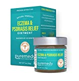 Puremedy Eczema & Psoriasis Relief Ointment, Homeopathic All Natural Salve Soothes and Relives Symptoms of Dry, Itchy, Flaky, Scratchy, Weepy Skin, 1 oz. (Pack of 1)