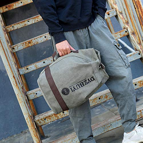 Hanggg Bolso bandolera de algodón lavado al aire libre mochila de lona