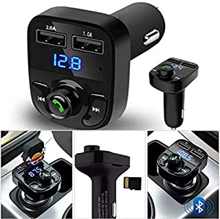 Car-X8 Wireless Car FM Player, 1 USB Port, AUX Cable Slot, Memory Card Slot LED Display, Hand free Calling, 12V-24V, H3BT