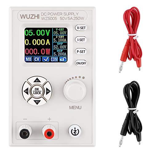 DC-DC Netzteil Variable Digital Control Einstellbare Laborbank Geregeltes Netzteil mit 2 Clip Line 1,8 Zoll LCD-Bildschirm 4-Digit DC30V 50V 5A