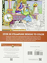 Dover DOV-99197 Steampunk Coloring Book (Creative Haven Coloring Books) #3