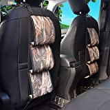 FAVORGEAR Seat Back Gun Racks, Camo Gun Sling Bag for Cars Truck SUV Drivers Tote 3 Long Guns, Outdoor Camouflage Front Seat Weapon Safety Carrying Case Organizer Holder for Hunting Rifles Shotguns