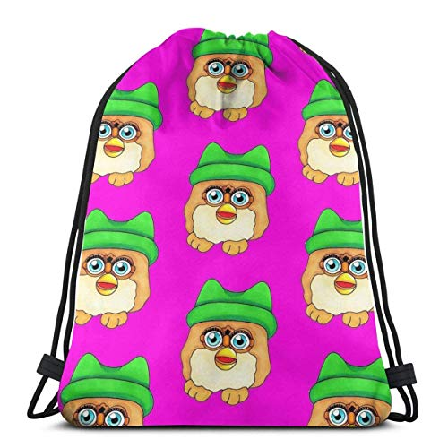 Mochila de gimnasia a granel, mochila con cordón, bolsa de regalo de cuerda, bolsa de fitness deportiva, paquete de cincha para hombres y mujeres, bolsa de viaje ligera, pollo Nugget Furby