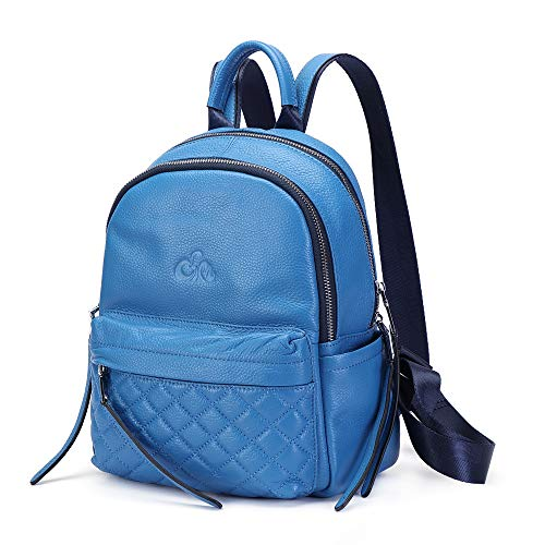 C'iel Rhea Women's Genuine Leather City Backpack - Blue - M