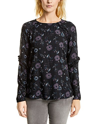 Cecil Damen 340721 Bluse, Black, Medium