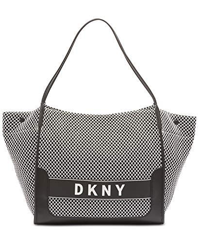 DKNY Women's Ebony Mesh Logo Carry All Tote Handbag