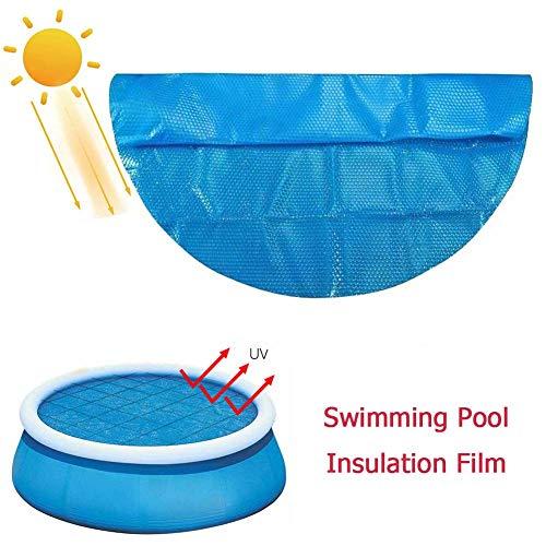 jaspenybow Solar Pool Cover 10 Fuß runde, oberirdische Poolabdeckung Wasserbeständige Hochleistungs-schwimmende endotherme Protektor-Wärmedecke, Poolabdeckung, zum Schutz des Pools