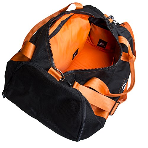 Modular Gym Bag (Black w/Orange Straps)