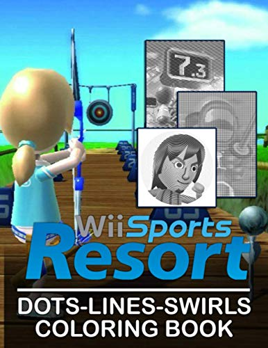 Wii Sports Resort Dots Lines Swirls Coloring Book: Wii Sports Resort Adult Color Dots Lines Swirls Activity Books For Women And Men