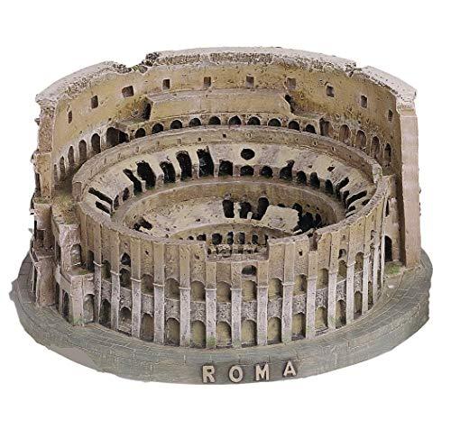 Souvenir del coliseo romano (Italia) en 3D. Producto realizado en resina. Dimensiones (anchura x altura): 19,5 x 9,5 cm