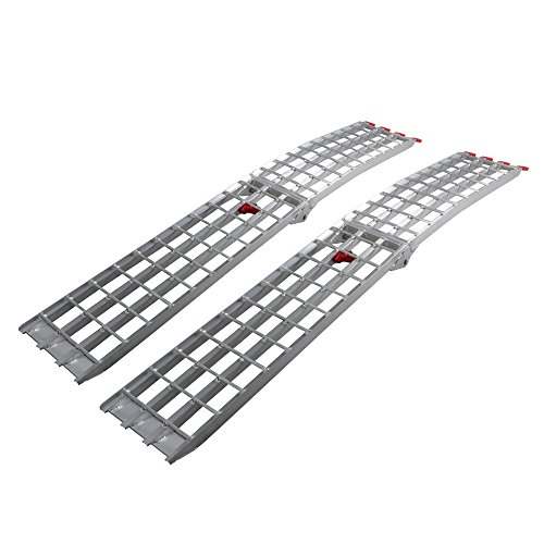 7.5' HD 4-Beam Loading Ramps 1500 lb Heavy Duty Aluminum Arched fit for ATV UTV Motorcycle Ramp by Motorhot Pack of 2