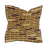 Bufandas de moda para mujer, Color Pastel Textura de la pared de ladrillo Fondo Cuadrado Seda Seda Bufanda de pelo Envoltura Pañuelo 23.62'x23.62'