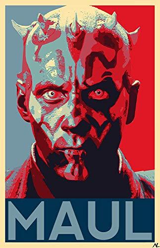 NLopezArt Darth Maul Political Poster -Star Wars Film Illustration Movie Pop Art Poster Print (11x17 inches) (Paper)
