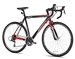 Giordano Libero 1.6 Road Bike in black and red