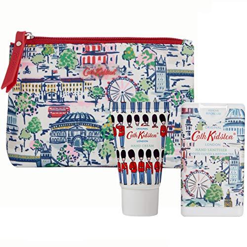 Cath Kidston Beauty London View - Neceser de viaje con desinfectante de manos y crema de manos, 30 ml y 15 ml cada uno
