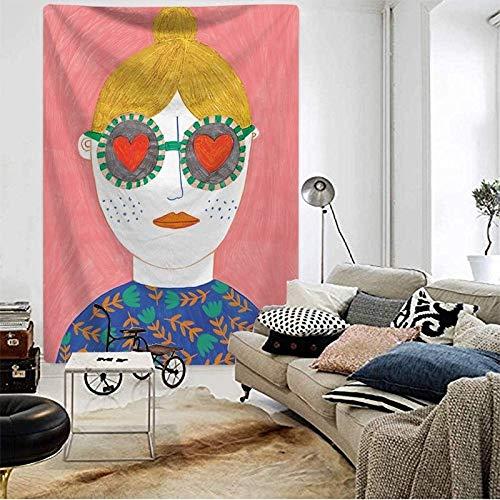 WERT Tapiz nórdico ins, decoración de cabecera para el hogar, Tapiz de Tela, Tapiz, Toalla de Playa, decoración del Dormitorio, Tapiz A8 73x95cm