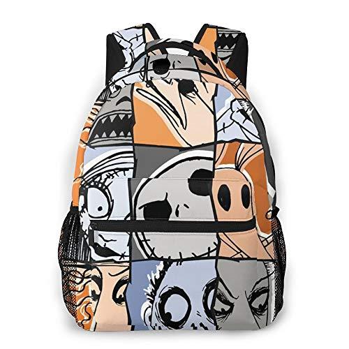 Shuifeng Zaino Nightmare Before Christmas, Jack Skellington Mini Backpack Zaino Stampato alla Moda di Grande capacità per Bambini