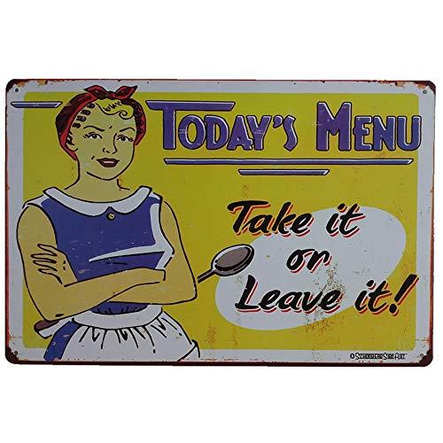taverne Garage Wicemoon Plaque Murale m/étallique Vintage pour d/écoration de Bar 20 x 30 cm