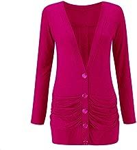 Momo&Ayat Fashions Ladies Viscose Button Up Ruched Pocket Boyfriend Cardigan US Size 4-22