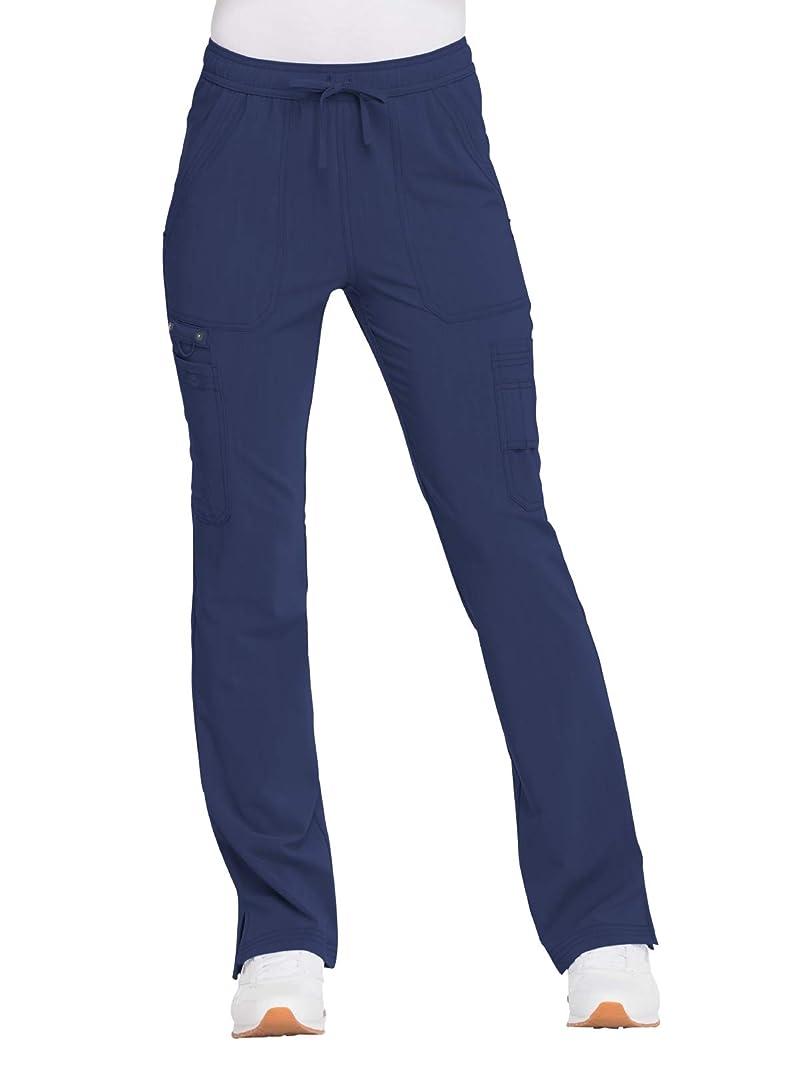 Dickies Advance Solid Tonal Twist Women's DK200 Mid Rise Boot Cut Drawstring Pant