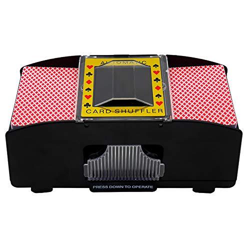 OOCOME Automatischer Pokerkartenmischer, 2-Deck Poker Shuffler, Batteriebetriebener elektrischer Shuffler für Zuhause und Party