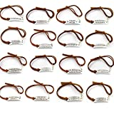 Best Deal ! 10 PCS PACK ! Random Inspirational Message Adjustable Leather Bracelets,Motivational Quotes BangleCuff Bracelets,Minimalist BFF Gifts,Giveaways for adults/Kids/teens.inspirational bracelets for women/Men/Adults/Kids/Teens.Inspirational br...