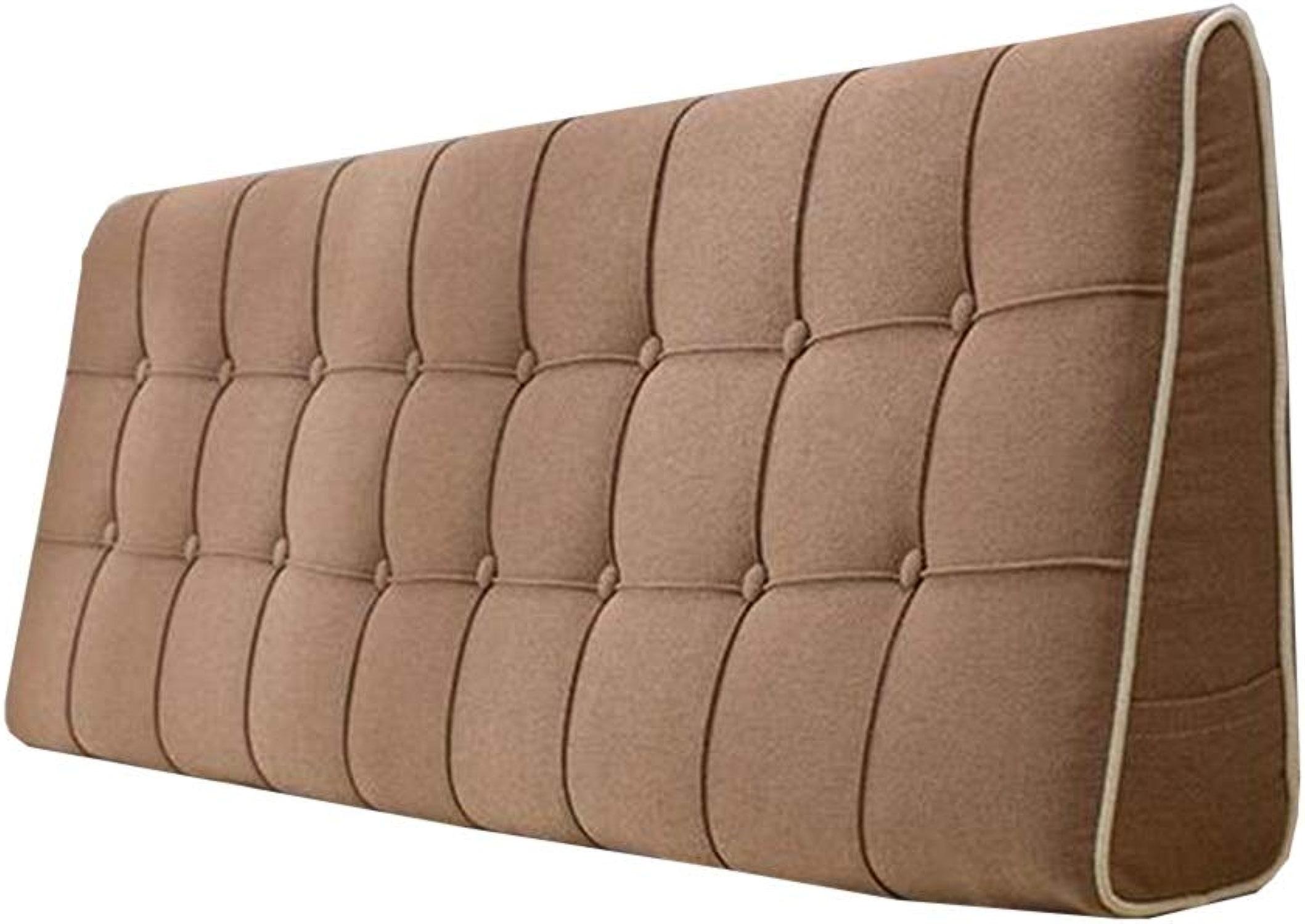 Coussins d'oreiller de lit Lit Softsac Support lombaire amovible et lavable, 3 couleurs, 8 tailles (Couleur   marron, taille   180  50  15cm)