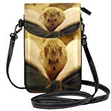 XCNGG bolso del teléfono Hedgehog On Book Cell Phone Purse Wallet for Women Girl Small Crossbody Purse Bags