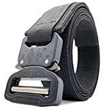 AMRAP Tactical 1.5' Slimline EDC Gun Belt - Double Ply With Authentic COBRA Hybrid Buckle. (Black, Large)