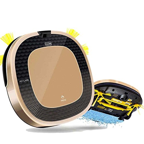 J&A Aspirapolvere robotico, carica automatica Robot spazzante con filtro HEPA ad alte prestazioni, ideale per capelli domestici, tappeti e pavimenti duri