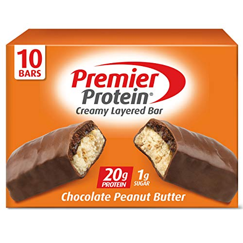 Premier Protein 20g Protein bar, Chocolate Peanut Butter, 2.08 Oz, (10Count), 10 Pack