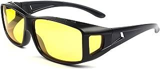 Night Driving Glasses, Polarized Wrap Around Prescription Eyewear XGlasses (black yellow)
