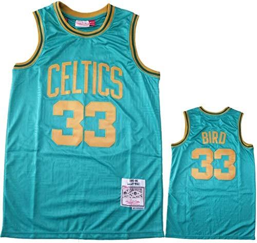 WSWZ Maglia da Basket NBA T-Shirt da Basket Abbigliamento da Basket Celtic # 33 Larry Bird Jersey T-Shirt NBA Fan Vest T-Shirt Cool Traspirante Comoda Luce Unisex Uniforme,XL