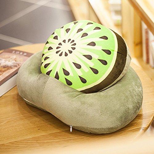 CHENGYI Cartoon Fruit Child Nap Pillow Estudiante Creative Lovely Office Hold Pillow 35cm (Design : Kiwi)