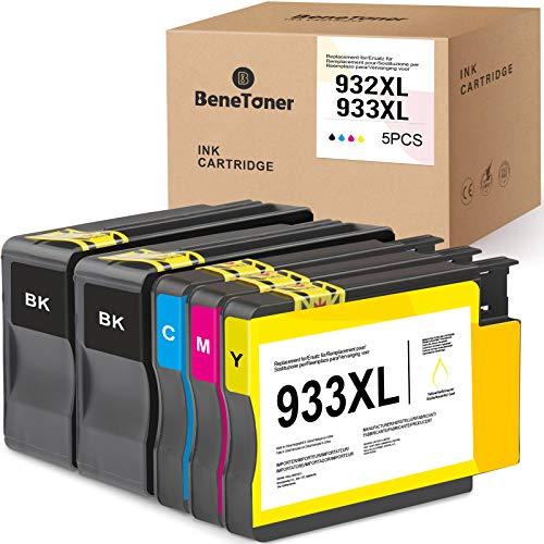 BeneToner 932XL 933XL Reemplazo de Cartucho de Tinta Compatible para HP 932XL 933XL para HP Officejet 6600 6700 7110 7612 7610 6100