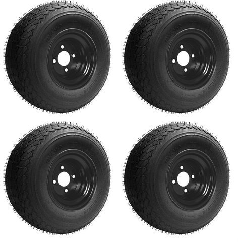 18x8 50 8 Gtx Oem Golf Cart Wheels And Golf Cart Tires Combo Set Of 4 18x8 5 8 Black Buy Online In Jamaica Golf Cart Tire Supply Products In Jamaica See