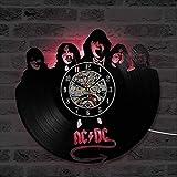 Smotly Vinilo Pared Reloj, ACDC Tema de la música decoración de la Pared Reloj...