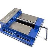 BITUXX Universal Maschinenschraubstock 200mm Schraubstock Säulen Tisch Stand Bohrmaschine