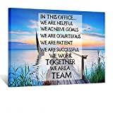 Kreative Arts Canvas Quotes Office Inspirational Sayings Words Wall Decor Teamwork Definition Motivational Quotes Peaceful Sunset Seascape Pictures Giclee Prints Poster Framed Artwork Ready to Hang