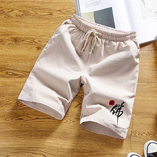 Korte broeken Heren Shortszomer Mode Dunne Casual Shorts Voor Mannen Katoenen Linnen Broek Met Trekkoord