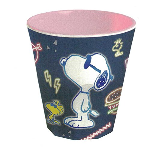 Snoopy melamine cup/neon