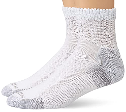 Dr. Scholl's Women's 2 Pack Advanced Relief Ankle Socks with BlisterGuard, White, Shoe Size: 8-12