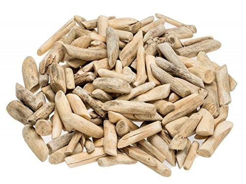*NaDeco Treibholz getrommelt 3-7cm 1kg Dekoholz Driftwood Schwemmholz Wood Maritime Dekoration Bastelholz*